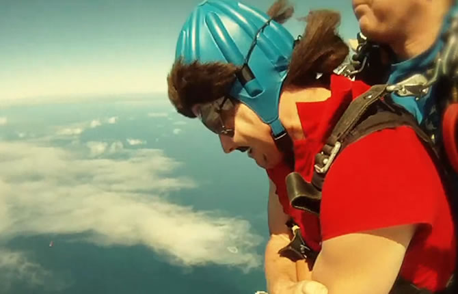 Ernest skydiving